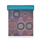 """Trideer High-Density Yoga Mat, Premium Printed 1/4"""" Extra Thick Non-Slip Eco-friendly Anti-Tear 6mm Floor Pilates Exercise Mat Yoga, Workout, Fitness Carrying Strap (Mystic Baroque)"""