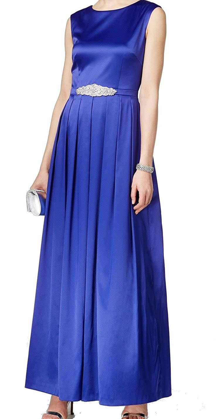 32d7743b56501 Tahari Women's Formal Embellished Satin Gown (14, Royal) at Amazon Women's  Clothing store: