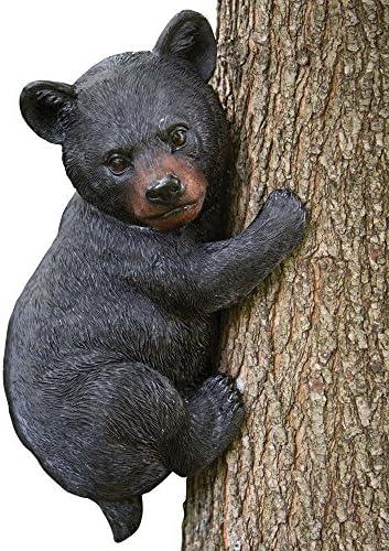 Amazon Com Bits And Pieces Baby Bear Up A Tree Garden Peeker Tree Hugger Outdoor Tree Sculpture Gifts And Garden Décor Tree Hugger Faces For Trees Bear