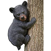 "Bits and Pieces Baby Bear Up a Tree Garden Peeker - Tree Hugger - Outdoor Tree Sculpture - Gifts and Garden Décor Tree Hugger Faces for Trees - Bear Cub Resin Sculpture, 13-3/4 long x 8"" wide"