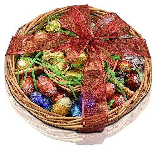 GIFT UNIVERSE – Lindt and Ferrero Rocher Gift Basket - Lindt GOLD BUNNIES - Lindor Milk Chocolate Truffles - Lindor Eggs - Ferrero Rochers