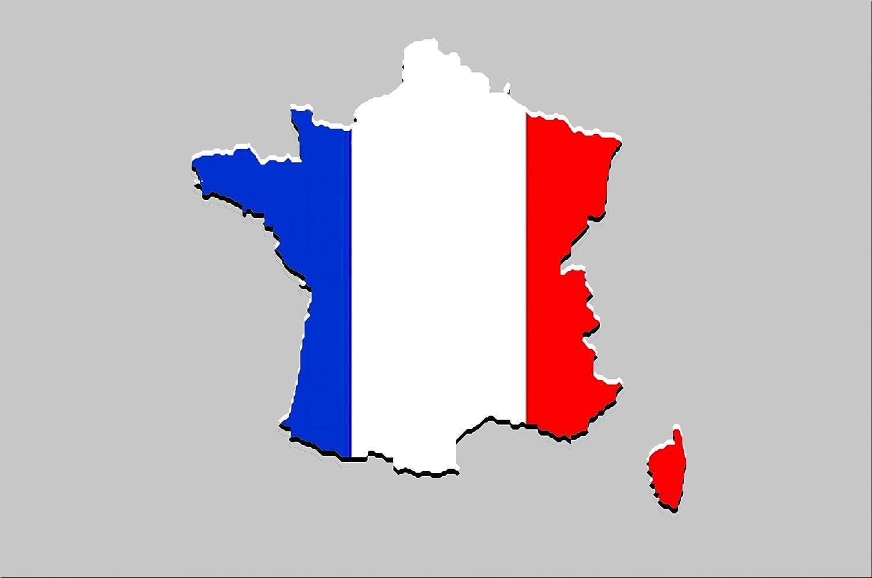 Amazon国旗マップフランスのイラストポスタープリント24 X 36プリント