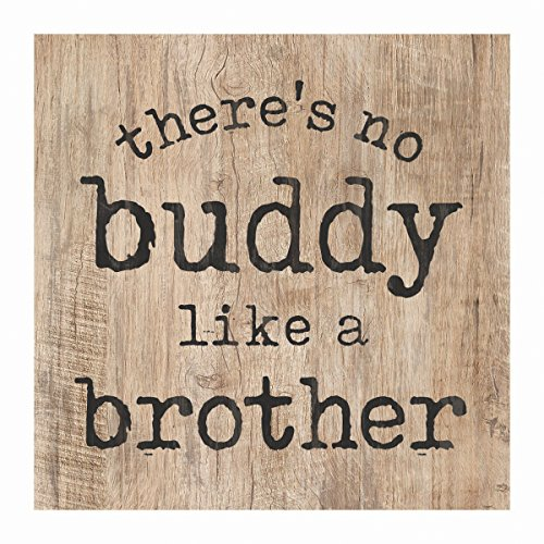 P. Graham Dunn No Buddy Like a Brother Natural 3.5 x 3.5 Inch Pine Wood Tabletop Block Sign (Dunn Brothers)
