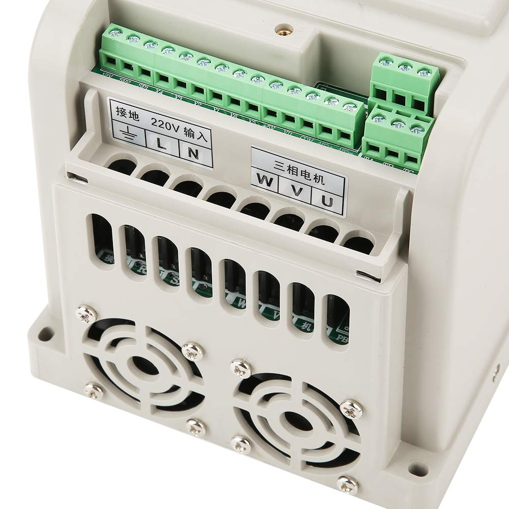 Variable Frequency Drive,220V Single-Phase Variable Frequency Drive VFD Speed Controller for 3-Phase 4kW AC Motor