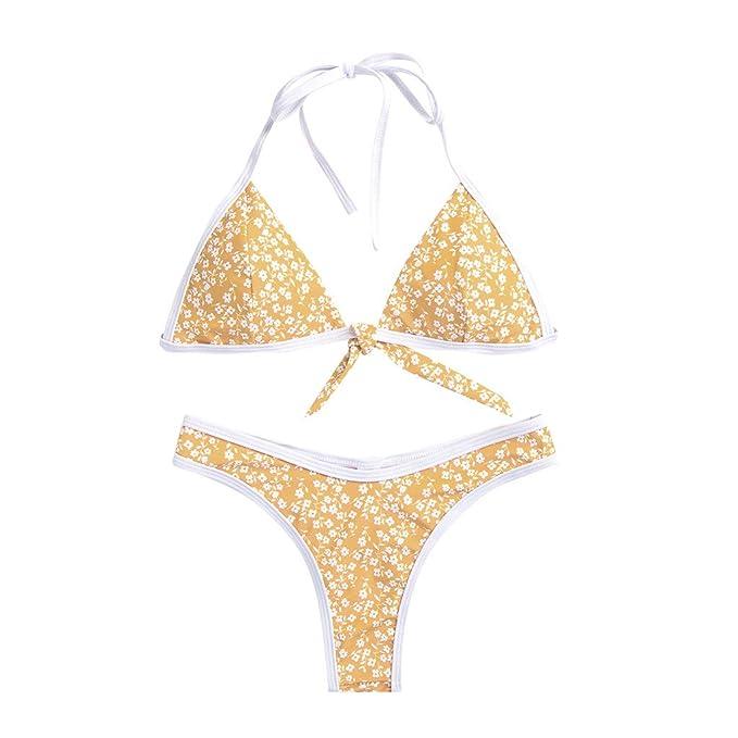 382ecdfdf653 Mymyguoe Mujer Bikinis Acolchado Dividida Traje de baño Bikini de una Pieza  Tops de Bikini Tangas Playa Conjunto de Bikini Bañadores Bikinis Push up:  ...