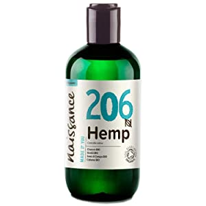 Naissance Organic Cold Pressed Hemp Seed Oil 8.5 fl oz / 250ml - UK Certified Organic, Vegan, Unrefined. Rich in Omega 3, 6 and 9