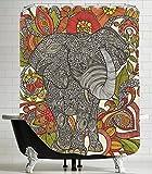 American Flat 'Bo The Elephant' Shower Curtain by Valentina Ramos, 71' x 74'