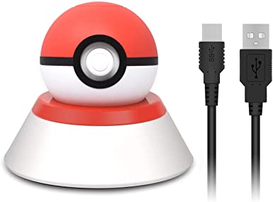 Soporte y cargador para Nintendo Switch Pokeball Plus, cable de ...