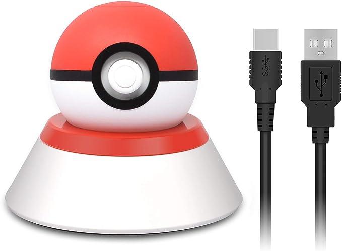 Soporte y cargador para Nintendo Switch Pokeball Plus, cable de carga y soporte de montaje para