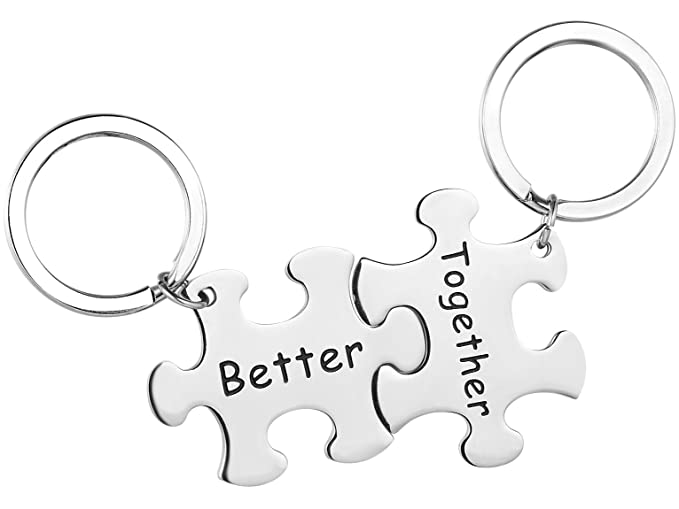 Amazon Com Valentine S Day Gift Couples Key Chain Better Together