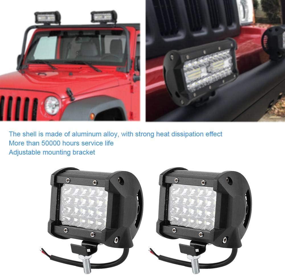 Lampe de travail 2PCS 4in 144W 14400LM LED Lampe de travail IP68 /Étanche antibrouillard Spotlight Repose pour Auto Off-Road Boat