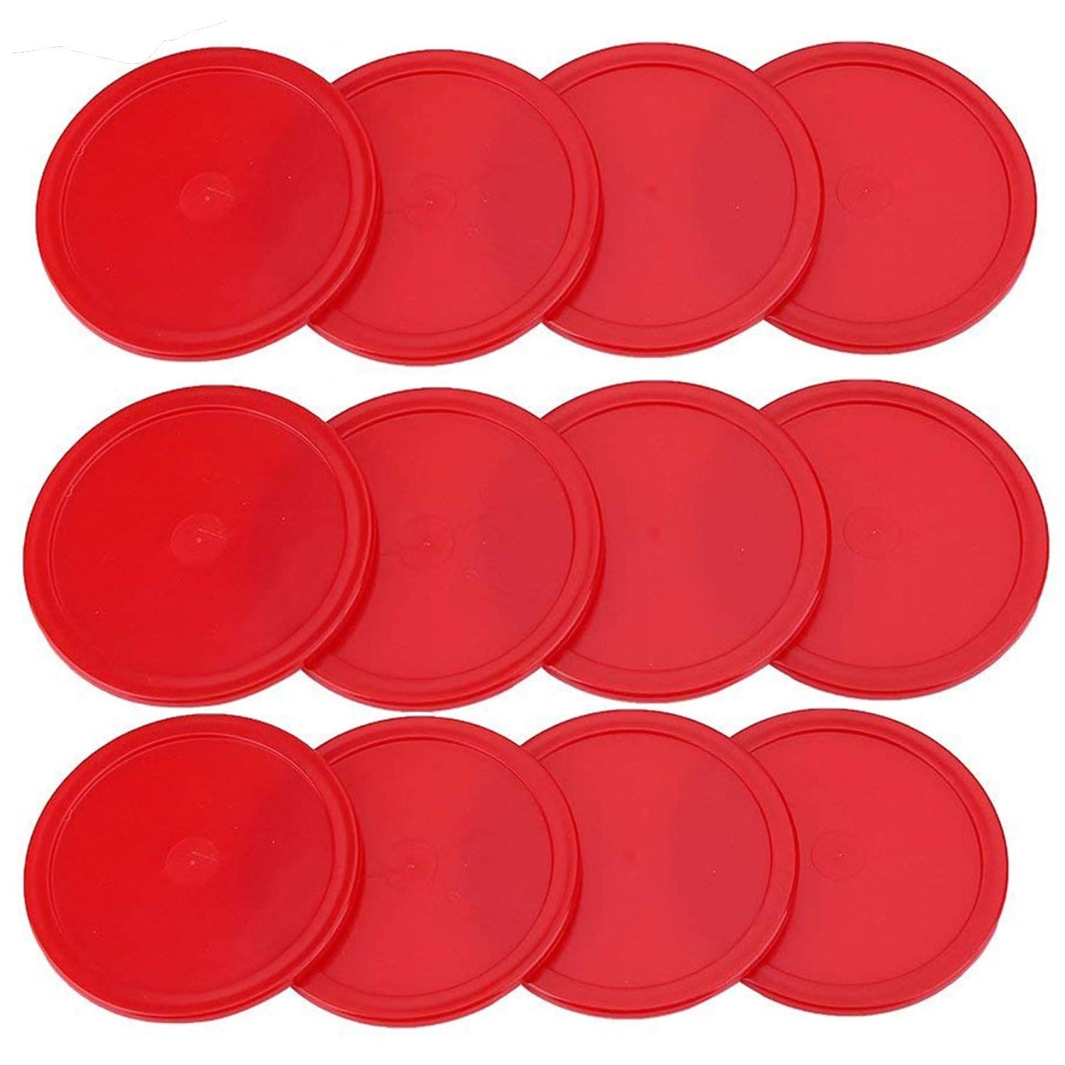 ONE250 3 1/4 inch Air Hockey Pucks, One Dozen Goal Full Size Packs Replacement Accessories for Game Tables (12 Pcs) (Red) by ONE250
