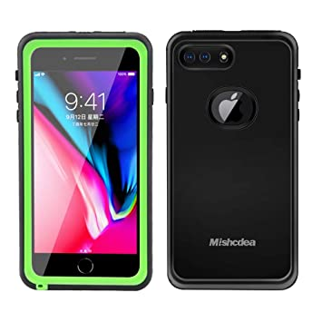 Mishcdea Funda iPhone 7/8 Plus Impermeable, Carcasas IP68 Waterproof para iPhone 7 Plus / 8 Plus con Protector de Pantalla Incorporado (Verde)