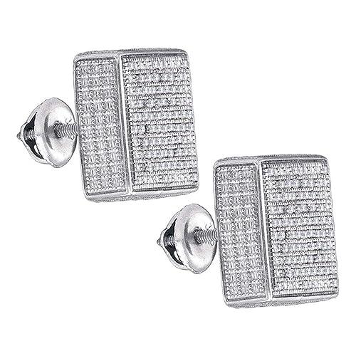 e16d7cf11aff Jewels by Lux - Pendientes de plata de ley para hombre