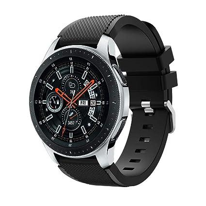 para Samsung Galaxy Watch 46mm Correa, Zolimx Silicona Suave Reemplazo Correo de Sport Banda por Pulseras de Repuesto Samsung Galaxy Watch 46mm
