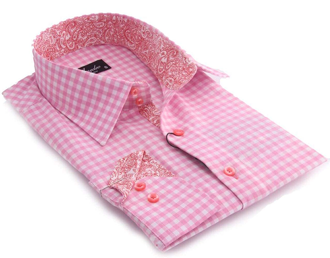 Amedeo Best shirt Mens classic fit Stylish Button Down Turkey Shirt Cotton Cuffs