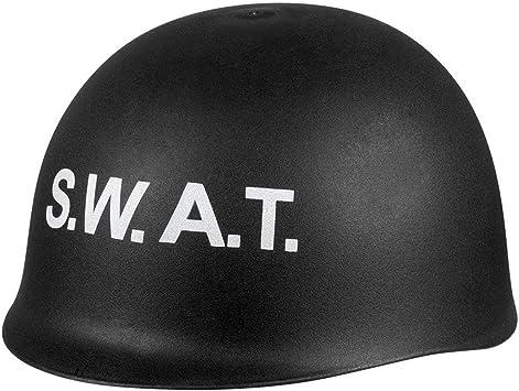 Karneval Fasching Hut Mütze Kopfbedeckung SWAT Polizei Helm NEU