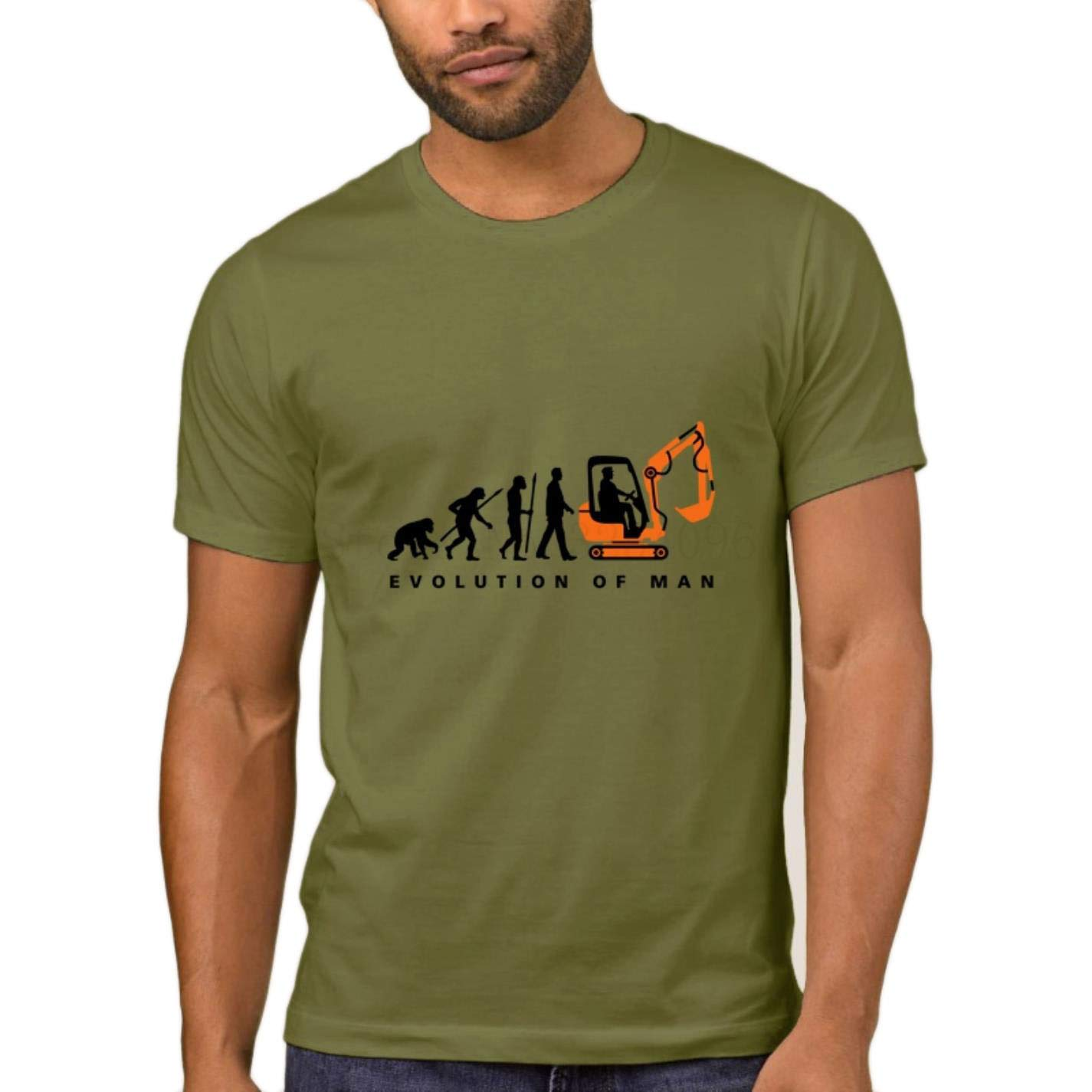 Amazon.com: AcgStyle Interesting Tshirt Men Cute Evolution Excavator Driver Short Sleeve Tees: Clothing