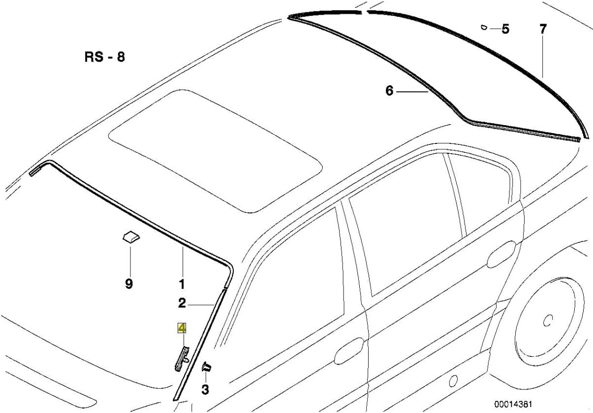 BMW E38 Wind Screen Trim Water Channel Clip 8125892 51318125892