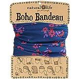 Natural Life Boho Bandeau Navy & Pink Flower Pattern