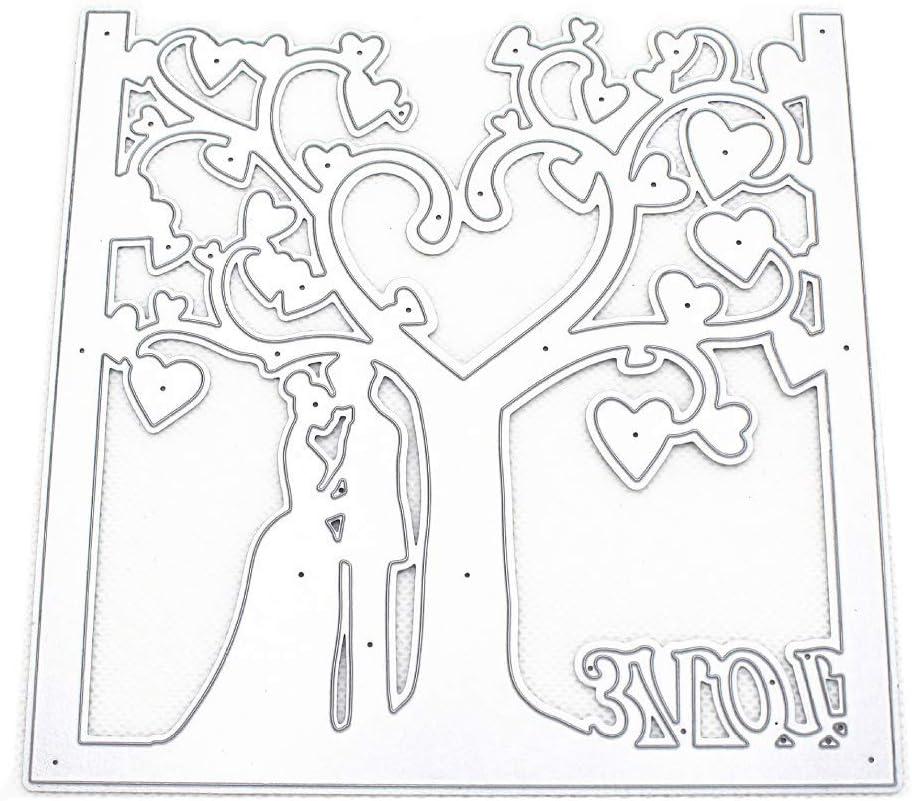 Couple Vgerlt Fustelle della Carte Decorative Bordi Metallici Stencil per Greeting Card Copertura goffratura Stencil Fai da Te Scrapbooking Album