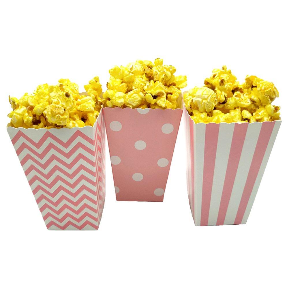 Amazon.com: JCX Paper Popcorn Bags, Mini Movie Theater Party Paper ...