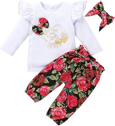 YAAY Conjunto de ropa de 0 a 24 meses para bebés y niñas con ...