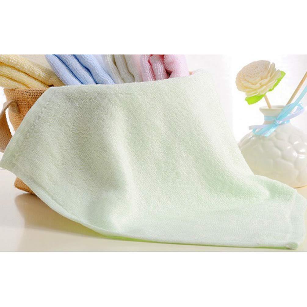 HEALIFTY Asciugamani in fibra di bamb/ù per bambini Asciugamani per allattamento morbidi e durevoli Asciugamani per neonati 9 pz bianco verde e rosa per ogni 3 pezzi
