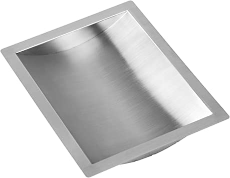 "x 10/"" w d Stainless Steel Drop-In Deal Tray 12/"" Brushed Finish"