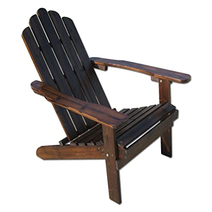 Table In A Bag CPADIR Folding Polywood Adirondack Chair, Brown