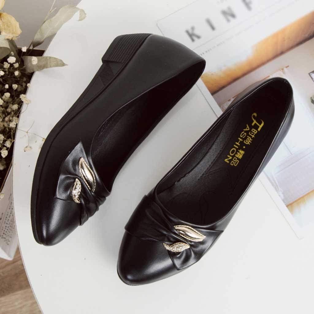 OSYARD-Chaussure Bateau Femme Ete Talon 2.5cm Escarpin Talon Courte Vernis