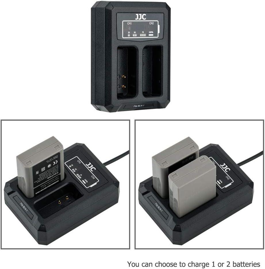 JJC USB Dual Battery Charger for Nikon Z6 Z7 D850 D750 D610 D600 D500 D7500 D7200 D7100 D7000 D810A D810 D800E D800 etc Cameras Replaces Nikon EN-EL15//EN-EL15a//EN-EL15b