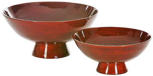 Artra Bambus Schalen 2er Set Lack Rot Design Schale Deko