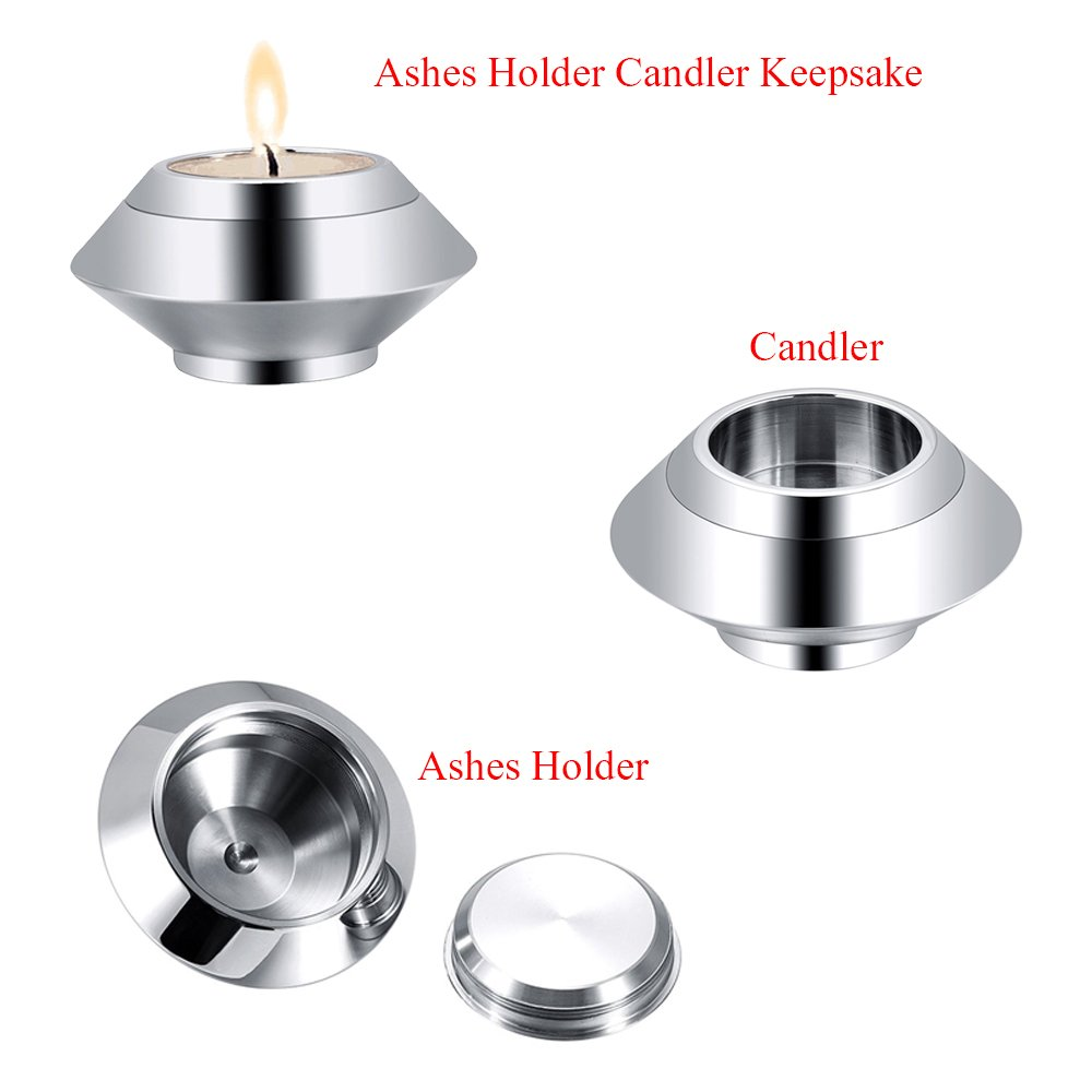 Cremation Jewelry Holder Candlestick Memorial Ash Holder Mini Funeral Casket Memorial Urn Keepsake Jewelry for Mom