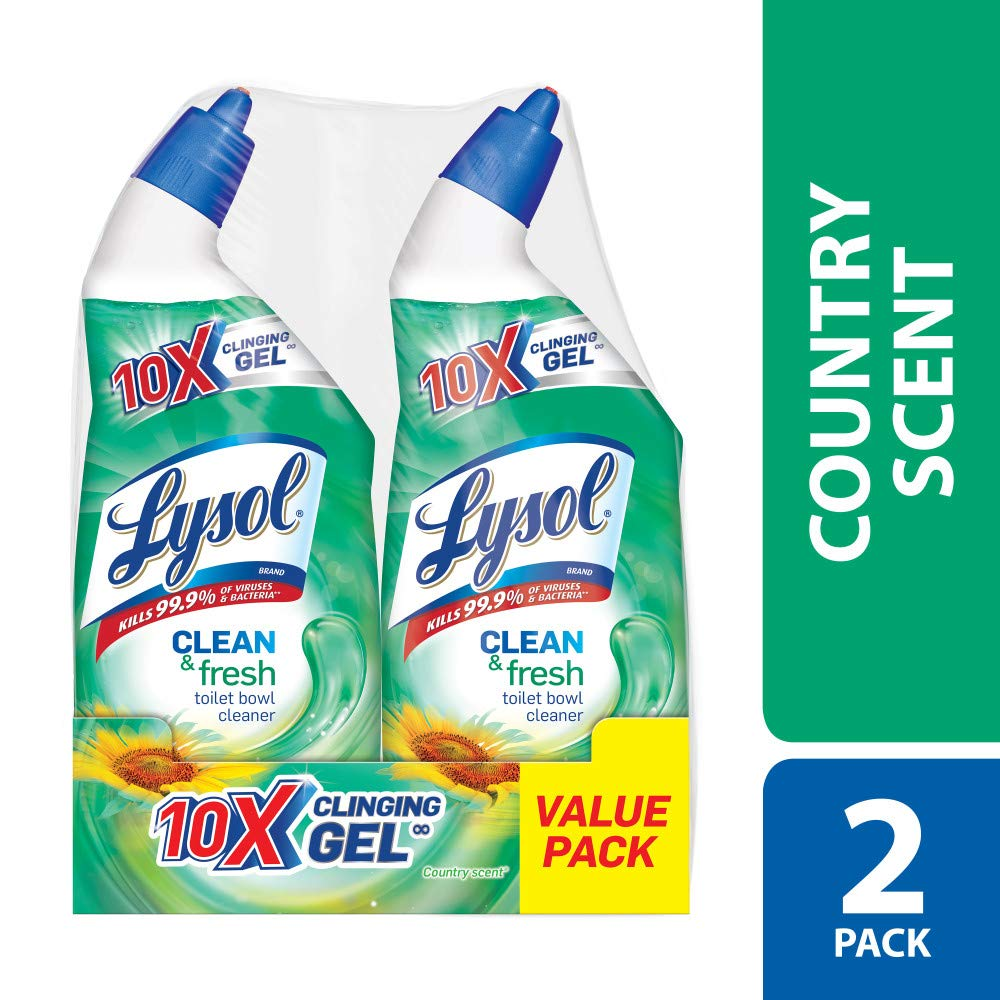 Lysol Power & Fresh Toilet Bowl Cleaner, Country Scent, 48oz (2X24oz)