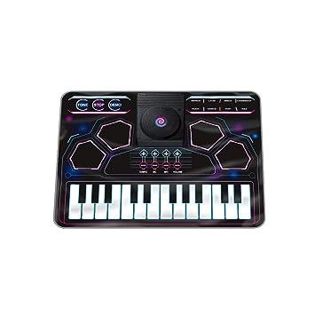 Teclado de aprendizaje multifunción DJ tocando discos batería de música de la batería (Color :