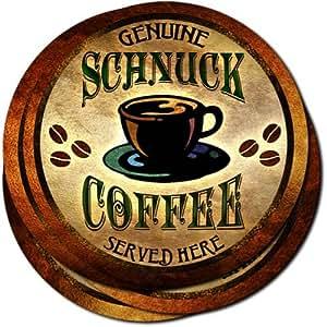 Schnuck Coffee Neoprene Rubber Drink Coasters - Set of 4