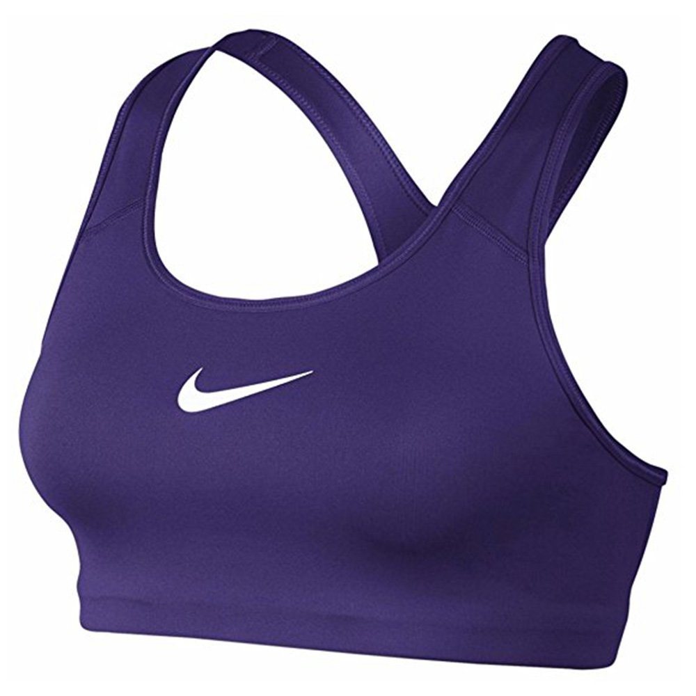 NIKE Women's Pro Classic Swoosh Bra Court Purple/White 842398 547 (xs)