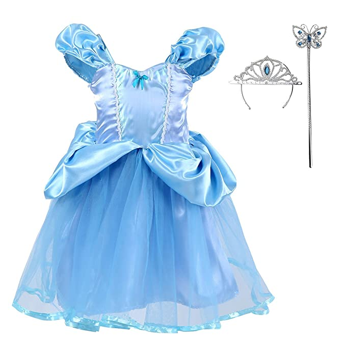 Amazon.com: Disfraz de Cenicienta para Halloween, color azul ...