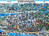 Buffalo Games City Character Puzzle Series - City of Philadelphia 504 Piece, Tripl Thick, Puzzle by Buffalo Games