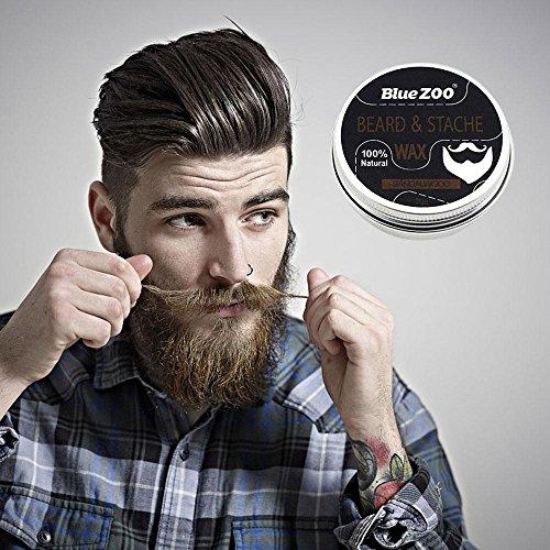 Pawaca - Kit de cuidado de barba para hombres para el crecimiento de la barba y el aseo Tijeras, aceite de barba bálsamo, peine, cepillo en exquisita caja: ...