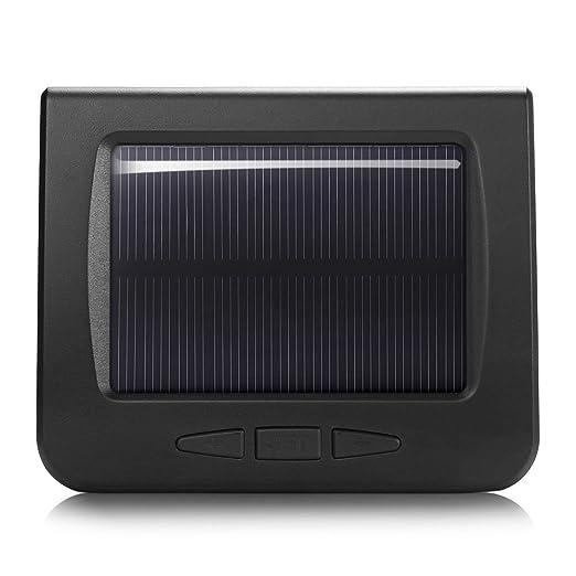 ZEEPIN C220 TPMS Sistema de control de presión de los neumáticos de energía solar digital pantalla LCD inalámbrica TPMS con 4 sensores internos: Amazon.es: ...