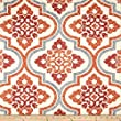 Waverly Quilted Lattice Imprint Paprika Fabric By The Yard