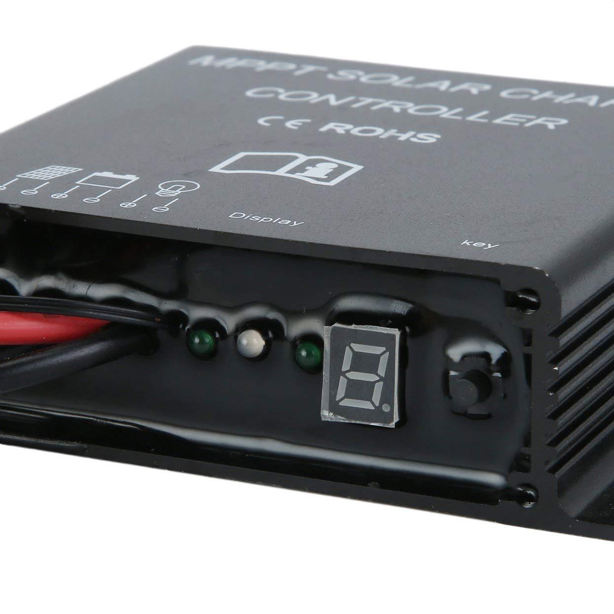 Tree-on-Life R/égulateur de Charge Solaire 20A LED MPPT 12V 24V PWM R/égulateur Solaire IP68 /Étanche Contr/ôle de la minuterie Charge Travailler Utilisation ext/érieure