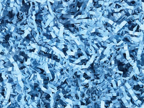 Light Blue Crinkle Cut Paper Shred 10 lb Box ~ Spring-fill Shred - WRAPS-ZF10LB by Miller Supply Inc