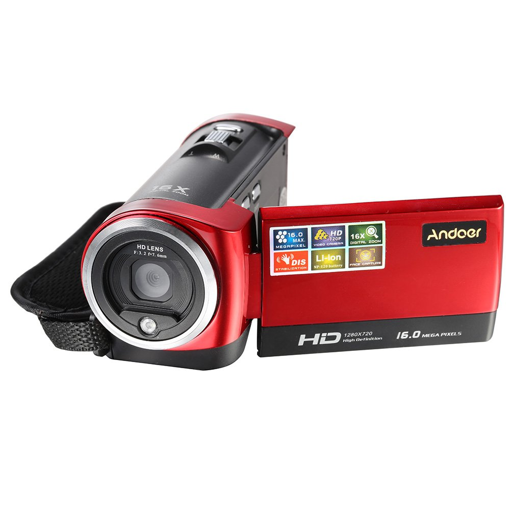 Andoer HDV-107 Digital Video Camcorder Camera HD 720P 16MP DVR 2.7'' TFT LCD Screen 16x ZOOM B4Q1430277310611D1
