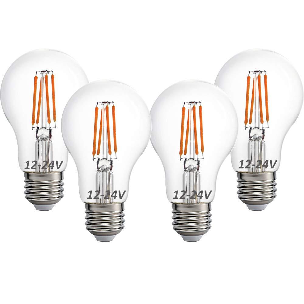 12 volt 24 volt 12v 24v led light bulb rv camper marine light bulb a19 low voltage 4w 470lm edison incandescent bulb 40w off grid solar battery system