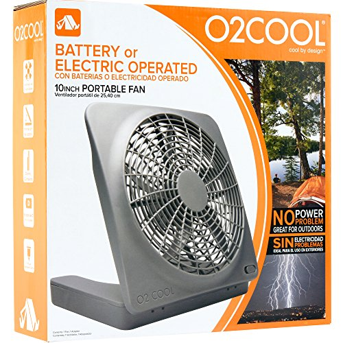 02 Cool 10 Inch Battery Or Electric Portable Fan Cook