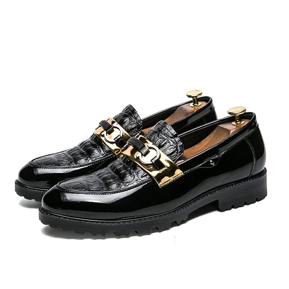 Xujw-scarpe, 2018 Scarpe Stringate Stringate Stringate Basse Scarpe oxford da uomo Comoda punta rotonda antiscivolo e resistente all'usura Slip On Loafer (Colore   nero oro, Dimensione   40 EU) 231fc8