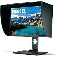 BenQ Monitor 4K para fotografía 27 pulgadas PhotoVue (SW271), 3840x2160 UHD, HDR, 99% Adobe RGB, 100%  sRGB, Rec.709, Espacio de color DCI-P3, Calibración de Hardware, IPS,14-bit 3D LUT, GamutDuo, USB-C, DP, HDMI